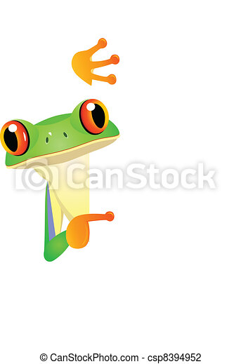 Frog with bank sign - csp8394952