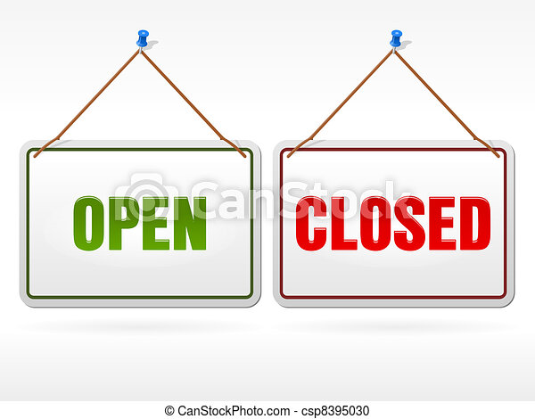 Open and Closed shop sign - csp8395030