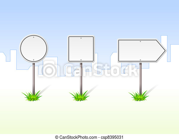 Blank Traffic Signs - csp8395031