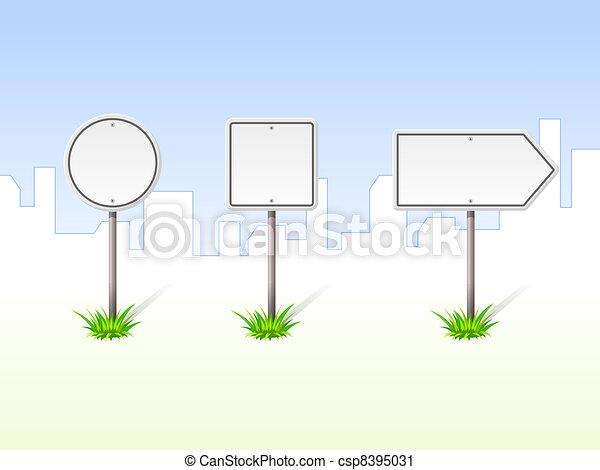Blank Traffic Signs - csp8395031