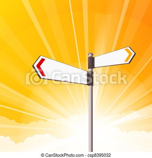 Blank Destination Signs - csp8395032