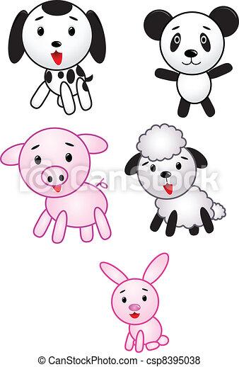 Animal cartoon collection - csp8395038