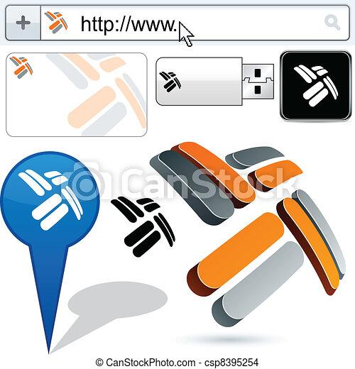 Business propeller abstract logo design. - csp8395254