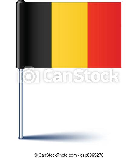 Belgian flag. - csp8395270