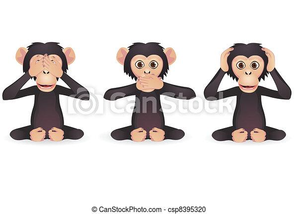 Three wise monkey - csp8395320