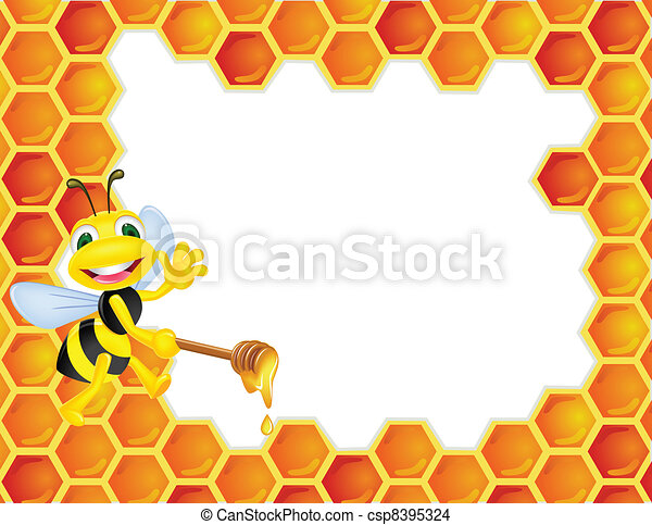 Bee cartoon - csp8395324