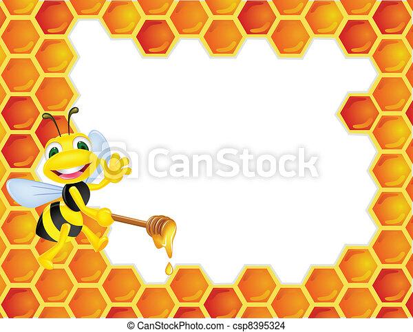 Bee cartoon - csp8395324