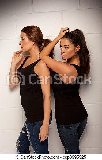 Two Beautiful Women Companions - csp8395325