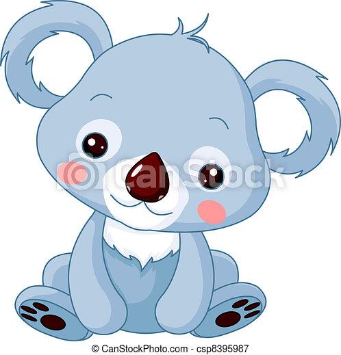 Fun zoo. Koala   - csp8395987