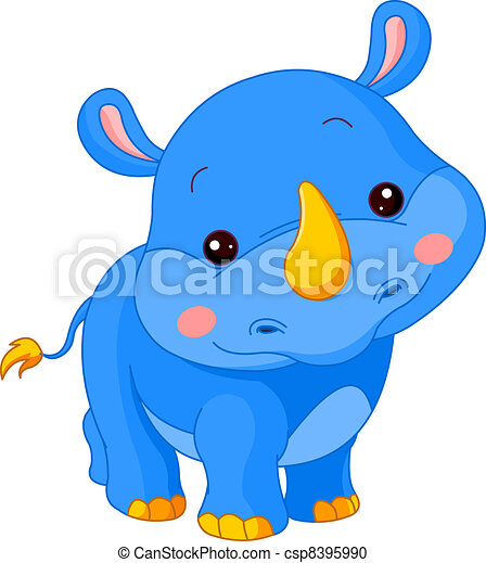 Fun zoo. Rhino - csp8395990