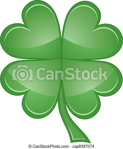 Shamrock or Four Leaf Clover - csp8397074