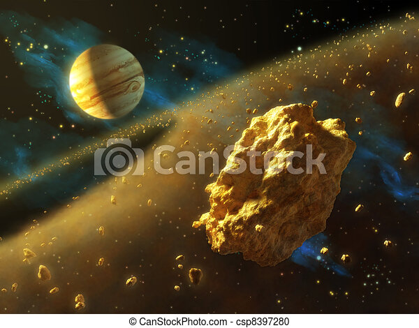 Asteroids belt - csp8397280