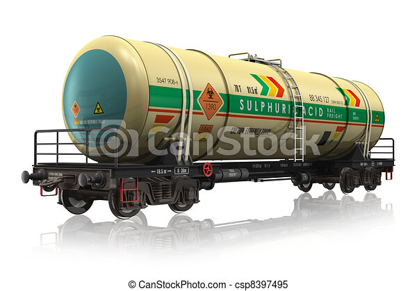 Chemical railroad tank car - csp8397495