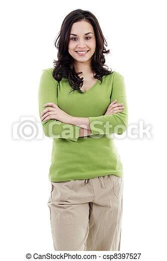 Casual woman - csp8397527