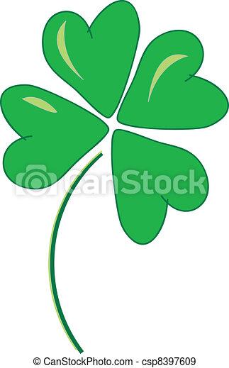 Lucky Four Leaf Clover - csp8397609