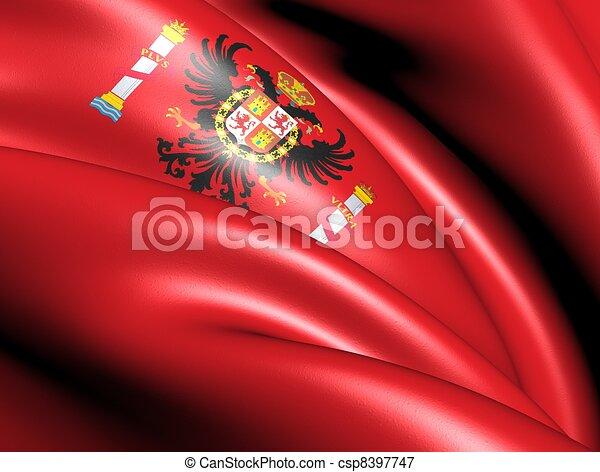 image de drapeau toledo province espagne fin haut csp8397747 recherchez des photographies. Black Bedroom Furniture Sets. Home Design Ideas