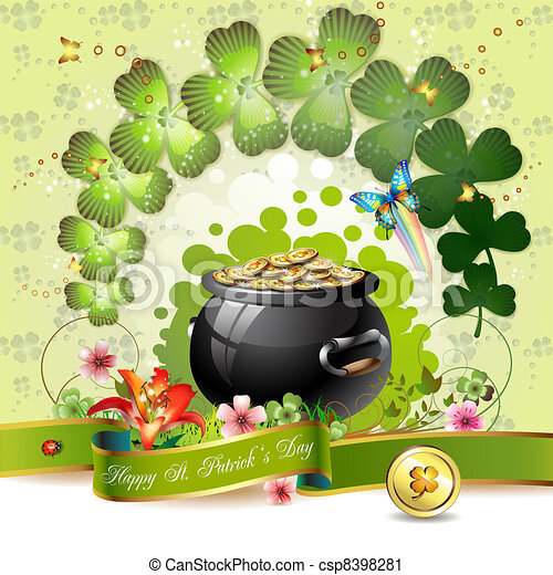 St. Patrick's Day card - csp8398281