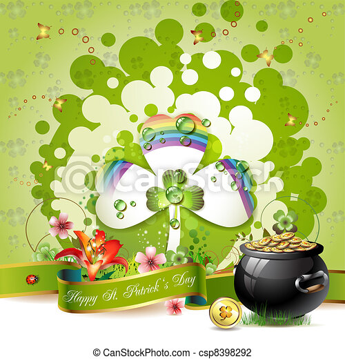 St. Patrick's Day card - csp8398292