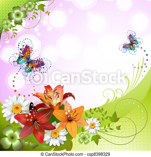 Springtime background - csp8398329