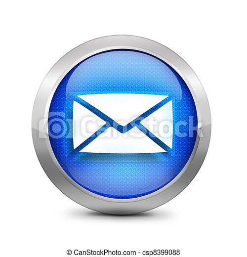 blue email icon sign - csp8399088