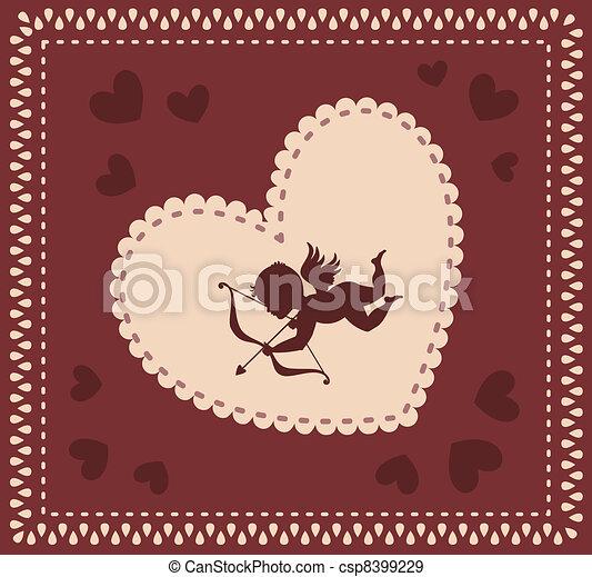Valentine day background  - csp8399229