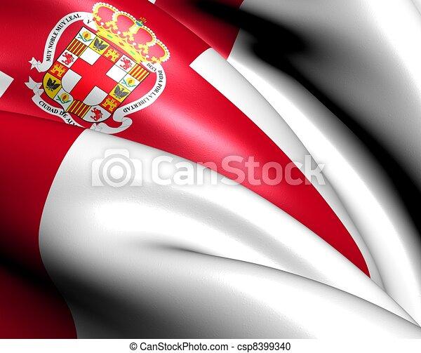 illustration de drapeau almeria ville espagne fin haut csp8399340 recherchez des clipart. Black Bedroom Furniture Sets. Home Design Ideas