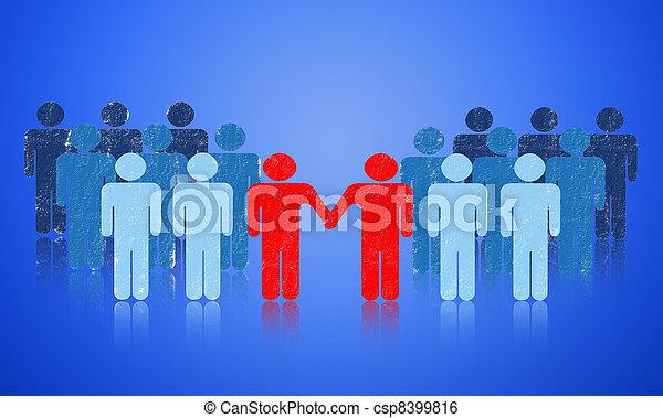 Cooperation - csp8399816
