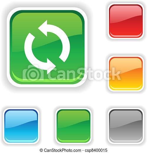 Refresh  button. - csp8400015