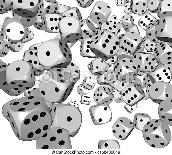 Dice rolling background - csp8400649