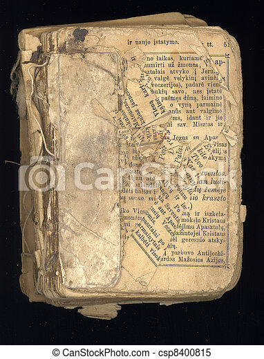 old  religious thematic book - csp8400815