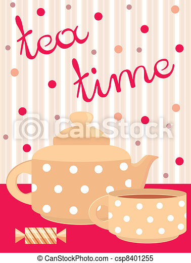Card. Menu Tea service - csp8401255