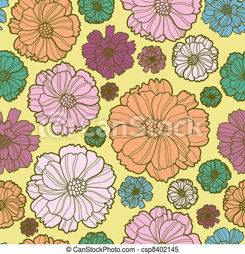 Floral botany pattern - csp8402145