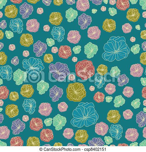 Floral botany pattern - csp8402151