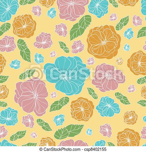 Floral botany pattern - csp8402155