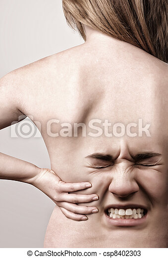 Woman with back pains