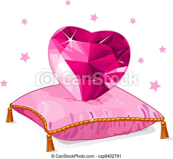 Clip art vecteur de rose coeur amour oreiller rubis - Clipart amour ...