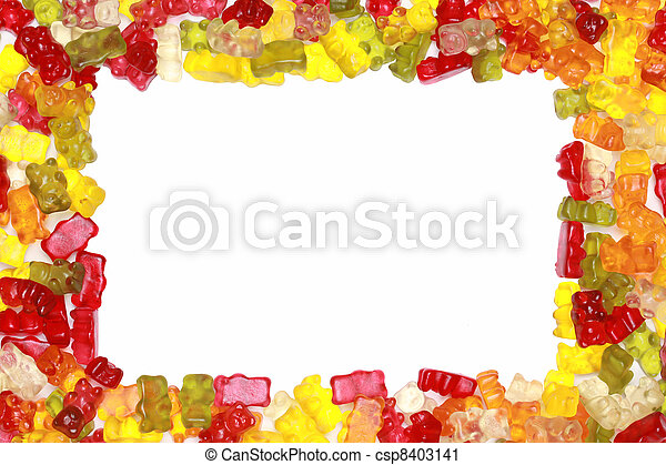 Stock Photography of Gummy Bears Frame - Close-up of delicious ...