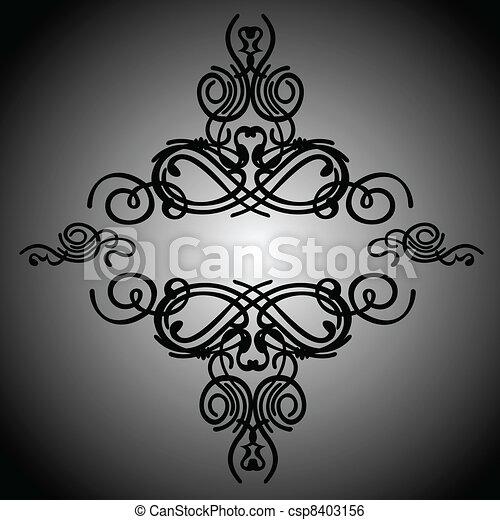 Calligraphy Romb - csp8403156