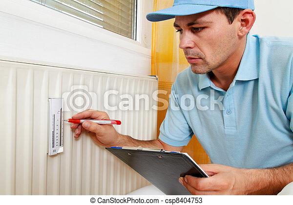 energy savings. reading the heating - csp8404753