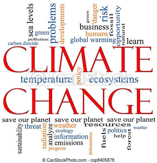 Climate Change Word Cloud concept - csp8405878