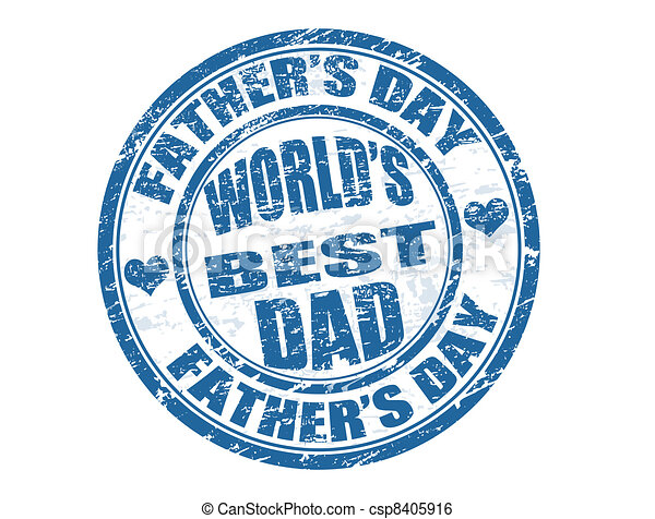 Father's day stamp - csp8405916