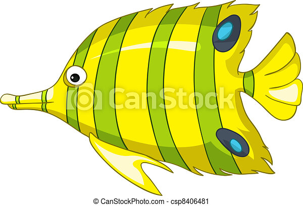 Cartoon Character Fish - csp8406481