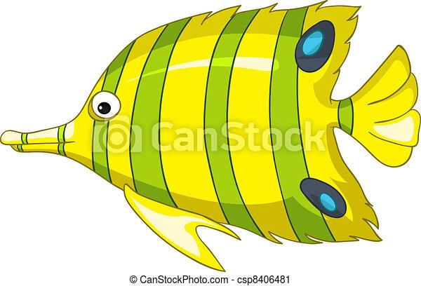 Cartoon Character Fish - csp8406481