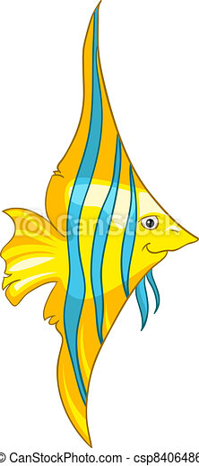 Cartoon Character Fish - csp8406486