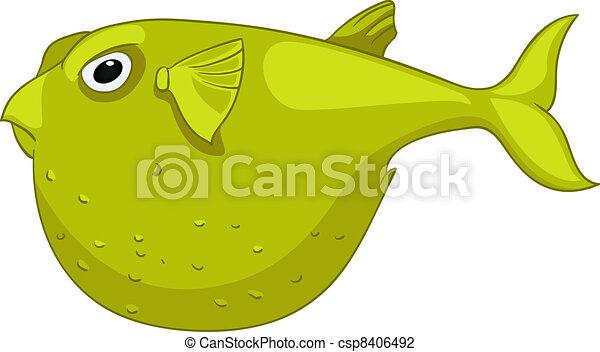 Cartoon Character Fish - csp8406492
