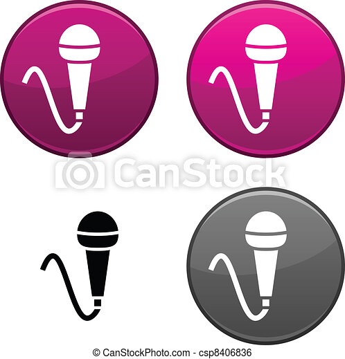 Mic button. - csp8406836