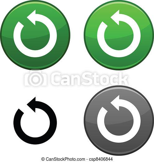 Refresh button. - csp8406844