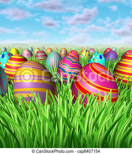 Easter Egg Hunt - csp8407154