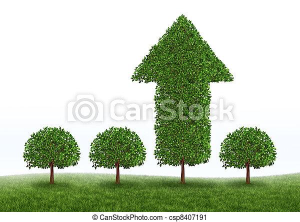 Financial Growth Success - csp8407191