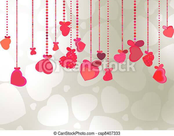 Elegant Valentine's or wedding illustration. EPS 8 - csp8407333